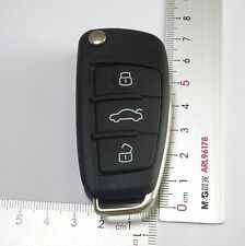 Replacement Flip Key Shell fit for Audi TT Audi TT Quattro Remote Key Case Fob