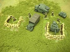 Wargames Scenery. Gun Emplacements.  20mm 1/72 scale x2 Models.
