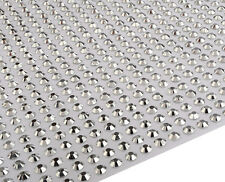1000 x 5mm Silver Self Adhesive Resin Gems Stick on DIY Card Craft