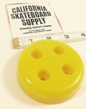 SKATEBOARD TAIL SKID ROUND - YELLOW - NEW OLD STOCK VINTAGE SKATEBOARD PART