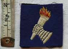 Military WWII Royal Armoured Corps Training Brigade Cloth Formation Badge (3339)