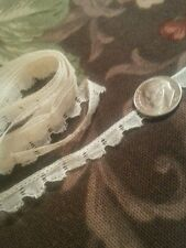 2 yards Antique Dainty Lace Trim Edging for Dolls Sewing Crafters Design Collage