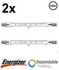 2x ENERGIZER 120w = 150w 78mm Energy Saving Tungsten Halogen R7s Floodlight