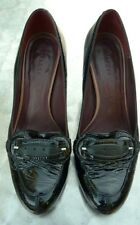Jaeger black patent leather court shoes size 5