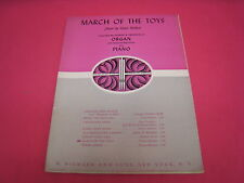 VINTAGE MARCH OF THE TOYS VICTOR HERBERT ORGAN AND PIANO 1951   (M197)