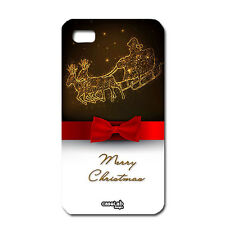 CUSTODIA COVER CASE RENNA NATALE CHRISTMAS FIOCCO PER IPHONE 5 5S