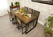 Urban Chic Dining Table. 6 Seater. Reclaimed Wood with Metal Frame