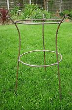 "HEAVY DUTY HANDMADE ANTIQUE STYLE METAL HERBACEOUS PLANT SUPPORT 5/16"" BAR"