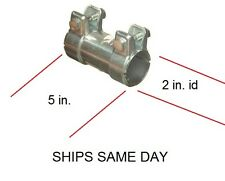 2 INCH ID MUFFLER PIPE COUPLER JOINER  PIPE *NO WELDING*  EXHAUST PIPE CONNECTOR