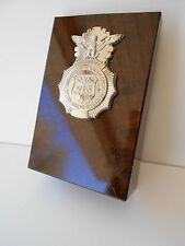 USAF SECURITY POLICE    Stand Up  Desk Wedge with  Engraving Plate