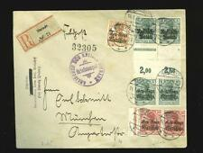 Poland:German occ. WWI: 1918 censored R-cover, mixed franking, EUR 100+