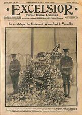 Catafalque Lt Reginald Warneford  Royal Naval Air Service à Versailles WWI 1915