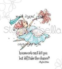 New Stamping Bella Cling Rubber Stamp HOUSEWORK FAIRY SET Funny