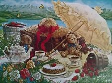 Teddy Bears Picnic Print by Janet Kruskamp