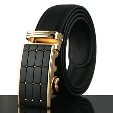 Fashion Luxury Mens Automatic Leather belts Waistband Strap Buckle belt Gift