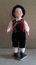 Antique German Bisque Heubach Pouty Doll with Flocked Hair
