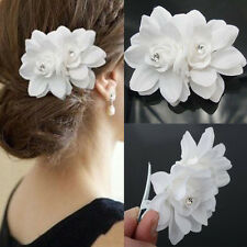 Retro Women Orchid Flower Crystal Barrette Clip Hairpin Hairclip Accessories