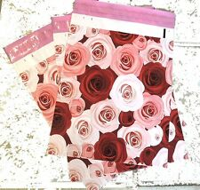 "100 -10x13"" DESIGNER SERIES ~Roses Print, Poly Mailers, USPS Approved"