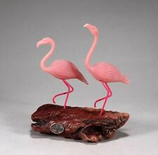 PINK FLAMINGO duo New direct from JOHN PERRY 7in tall.Sculpture Statue Figurine