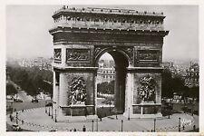 PARIS FRANCE L' ARC DE TRIUMPHE PHOTO RPPC UNUSED POSTCARD