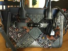 Coach Embellished Canyon Quilt Swagger $695 Leather Haircalf W / RETICKET TAG