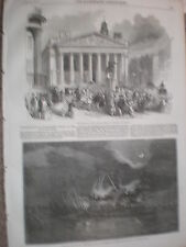 War with russia Proclamation Royal Exchange & HMS York break up Portsmouth 1854