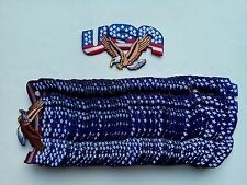 "50 USA/Eagle Flag Biker Embroidered Patches 4.25""x2.25""-"