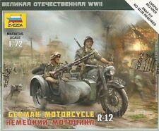 1:72 BMW R12 Beiwagenkrad Zvezda 6142 Wehrmacht EDW german motorcycle 2 soldiers