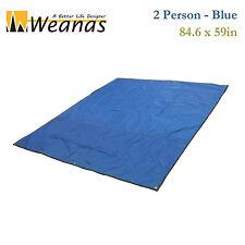 WEANAS 2-Person Thickened Groundsheet Camping Tent Tarp Shelter Shade Picnic Mat
