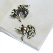 Silver Pewter Retriever Carrying Ducks Handmade in England Cufflinks Dog New
