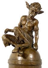 Aufregende KÜNSTLER Bronze SITZENDER FAUN signiert MILO