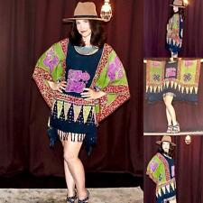 Vintage Retro 70s boho hippie ethnic tunic mini dress