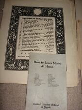 """Vintage """"US School of Music"""" 1920's  Music Lessons for Piano"""