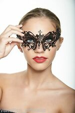 St. John Black Laser Cut Venetian Masquerade Mask BG002BK BRAND NEW Wedding