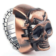 New Vintage Punk Skull Gothic Elastic Finger Ring Quartz Watch Unisex Gift