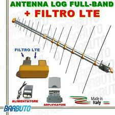 ANTENNA DIGITALE TERRESTRE LOG HD LTE UHF/VHF+ AMPLIFICATORE E ALIMENATORE