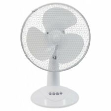 "Prem-I-Air 12"" 30cm White Desk Fan 3 Speed Quiet Operation Oscillating BNIB"