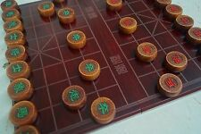 "Chinese Chess, 15.6"" MDF Board, 1.6"" Dalbergia cochinchinensis Pierre Pieces"