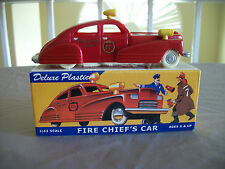 1940'S DIMESTORE DREAMS FOR TRAIN,GAS, SERVICE STATION PLAYSET FIRE CHIEF CAR