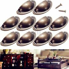12 Antique Kitchen Cupboard Cabinet Door Knob Drawer Furniture Shell Pull Handle