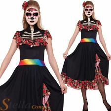 Femmes Day Of The Dead Halloween Squelette Zombie Costume Déguisement