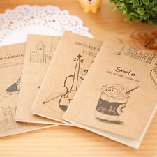 2Pcs Vintage Mini Notebook Blank Paper Notepad Students Memo Pad Stationeries