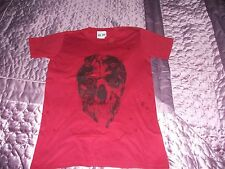 Red T-Shirt With Skull Picture Size S Gametee 100% Cotton