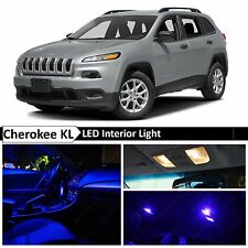 15x Blue LED Interior Lights Package Kit for 2014-2015 Jeep Cherokee KL + TOOL