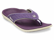 Spenco Sandals Yumi Canvas Deep Purple Size 11 Womens New with Tags