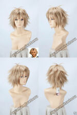 Final Fantasy X Tidus Anime Short Cosplay Costume Wig + Track Number +CAP