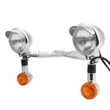Driving Spot Light Bar Turn Signals Fit Harley Road King EFI FLHRCI Custom FLHRS