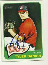 2014 Topps Heritage TYLER DANISH Signed Card WHITE SOX AUTO VALRICO, FL