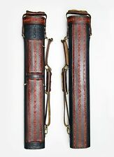 J Flowers Tribute Real Leather 3x6 Billiard Pool Cue Case 3Butts 6Shafts C02D36