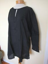 New_Lovely_Boho Shirt_Embroidered Cotton Tunic Top_Black_1X
